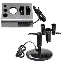 2PC Tabletop Salon Appliance Holder Hair Tool Stand Blower H