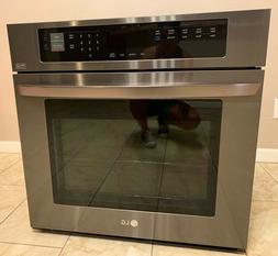 """LG 30"""" Single Electric Black Stainless Steel Wall Oven W/c"""