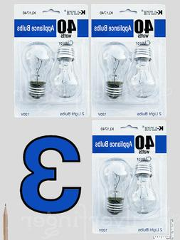 4—6 pcs Appliance Light Bulbs Refrigerator Freezer Oven Mi