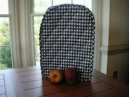 Black Gingham Appliance Cover fits Kitchen Mixers Etc, quilt