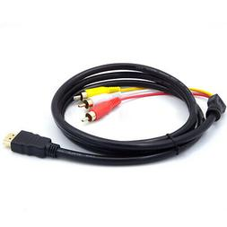 HDMI To RCA Support Appliances Audio Video 5FTCable Cord Ada