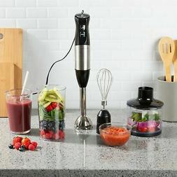 Immersion Blender 6 Speed Food Processor Cup Mixer Whisk 4 i