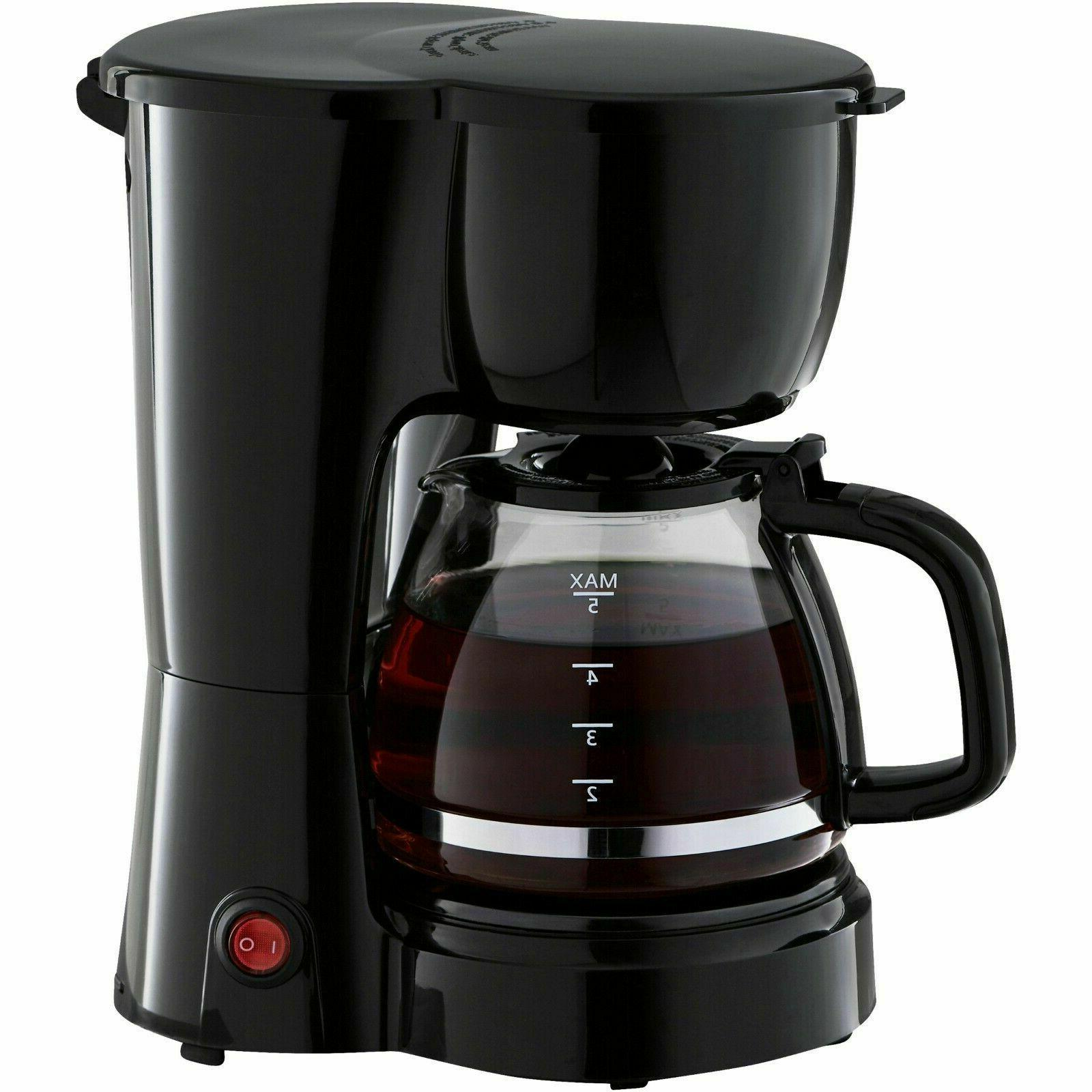 5 Cup Brew Pot Appliance Electric Black