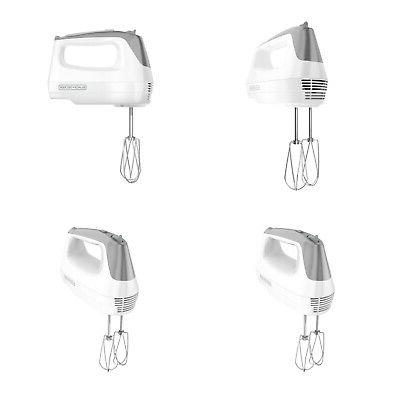BLACK+DECKER Lightweight Hand Mixer White Home Kitchen Cooki
