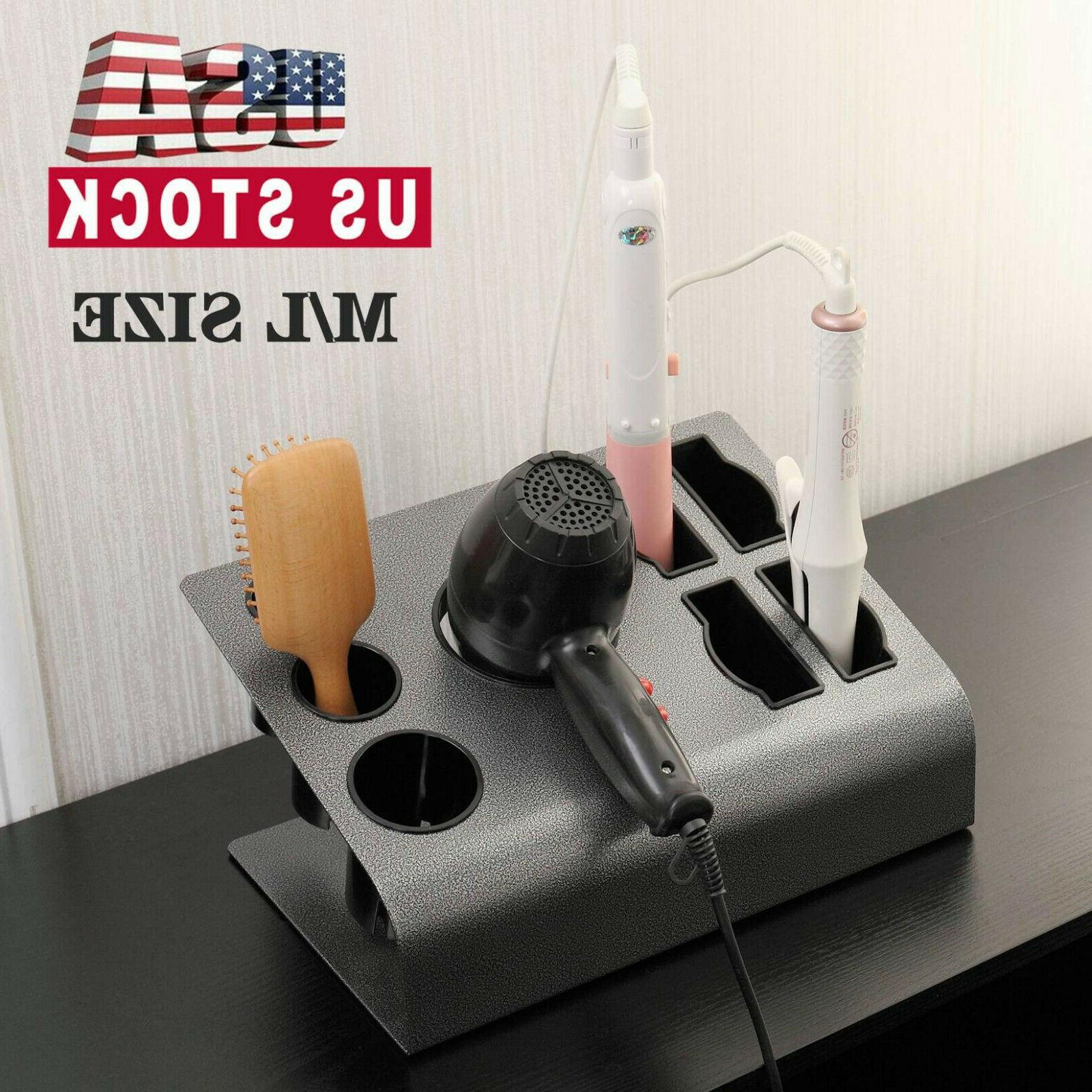 tabletop hair iron and blow dryer holder