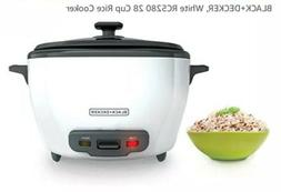 NIB Black+Decker 28-CUP RICE COOKER APPLIANCE White RC5280